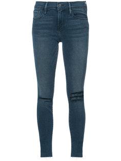 джинсы скинни с необработанными краями Frame Denim