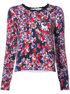floral print buttoned cardigan  Carolina Herrera