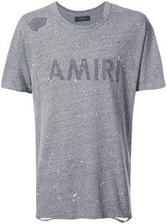 футболка с логотипом Amiri