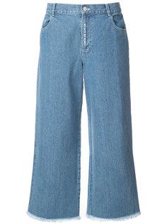 широкие джинсы с необработанными краями Sandy Liang