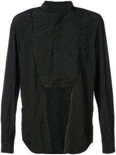 рубашка с нагрудником и мятым эффектом Comme Des Garçons Homme Plus