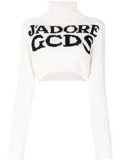 укороченный свитер-водолазка с логотипом  Gcds