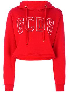 укороченная худи с логотипом Gcds