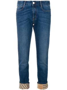 прямые джинсы в клетку  Stella McCartney