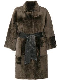 двухстороннее свободное пальто  Drome
