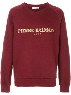 толстовка с принтом-логотипом Pierre Balmain