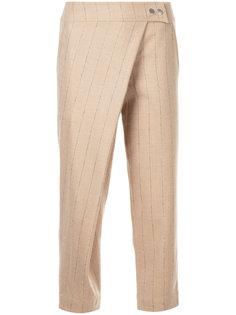 полосатые брюки с накладной панелью Nehera