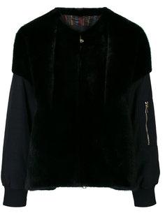 куртка-бомбер с меховыми деталями Blancha