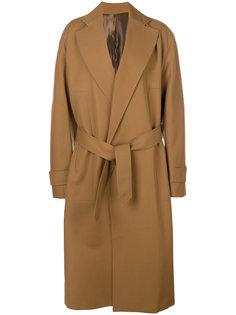 пальто с завязками на поясе Wooyoungmi