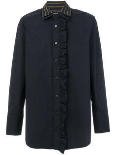 рубашка с рюшами и двойным воротником Wooyoungmi