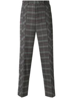 брюки с узором в ломаную клетку Wooyoungmi