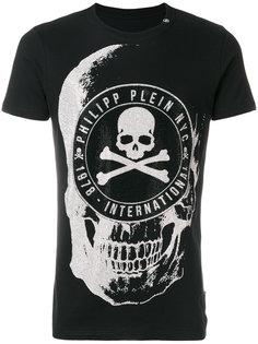 футболка с черепом и стразами Philipp Plein