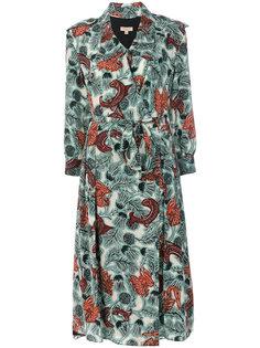 платье с запахом и принтом Beasts Burberry
