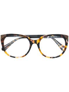 солнцезащитные очки с эффектом черепашьего панциря Balmain