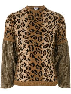 свитер с леопардовым узором Loewe