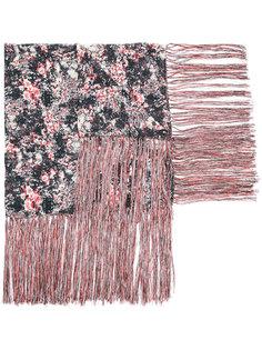 шарф с цветочным принтом и кисточками Isabel Marant