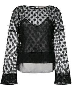 полупрозрачная блузка с вышивкой  Dorothee Schumacher