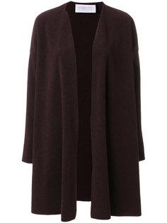 пальто с драпировкой  Harris Wharf London