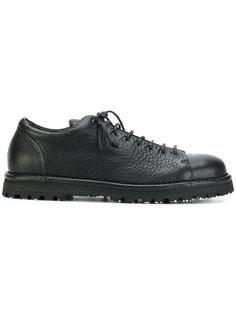 текстурные ботинки на шнуровке Marsèll