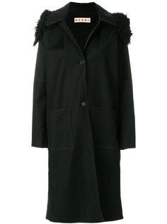 свободное пальто с капюшоном  Marni