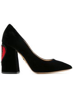 туфли-лодочки Amanda с сердцем Charlotte Olympia