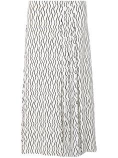 юбка с плиссированной вставкой и волнистым принтом Victoria Victoria Beckham