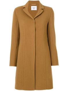 однобортное пальто со вставкой  Dondup