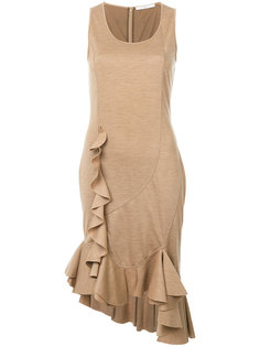 платье миди с оборкой  Givenchy