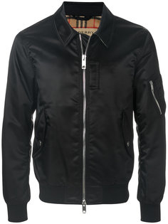 куртка-бомбер с косым воротником Burberry