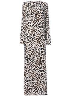 платье макси с леопардовым узором Equipment