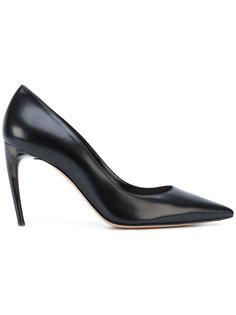 туфли-лодочки на изогнутом каблуке Alexander McQueen