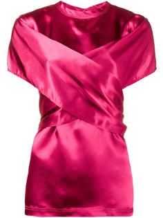 блузка с запахом спереди и короткими рукавами Sies Marjan