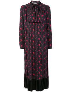 платье с длинными рукавами с цветочным принтом  McQ Alexander McQueen