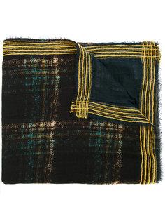клетчатый шарф с полосатыми краями Faliero Sarti