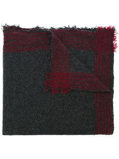 шарф с простроченными полосками Faliero Sarti