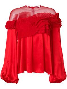 расклешенная блузка со складками  Givenchy