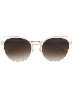 """солнцезащитные очки в оправе """"кошачий глаз"""" с прорезями Balmain"""