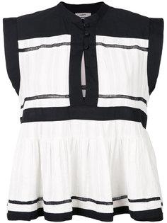 двухцветная блузка  Isabel Marant Étoile