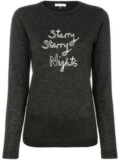 блестящий пуловер с вышивкой  Bella Freud