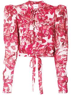 блузка с бантом и цветочным принтом Brognano