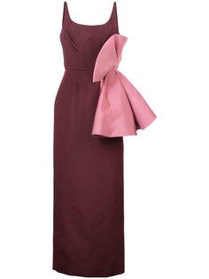 платье с крупным бантом Christian Siriano