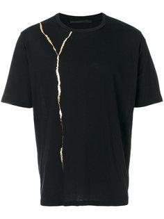 футболка с золотистой панелью Haider Ackermann