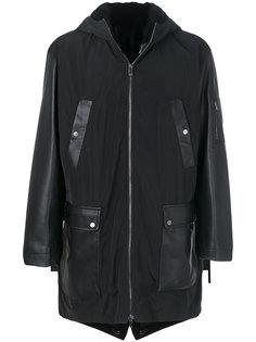 пальто с контрастными панелями Drome