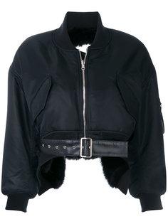 укороченная куртка-бомбер Comme Des Garçons Noir Kei Ninomiya