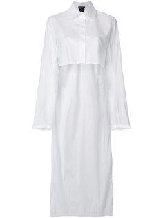 асимметричная рубашка  Ann Demeulemeester