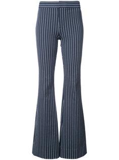 расклешенные полосатые брюки Derek Lam 10 Crosby