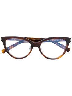 """очки в оправе """"кошачий глаз"""" Saint Laurent Eyewear"""
