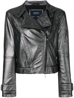 байкерская куртка с металлическим отблеском Armani Jeans
