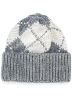 трикотажная шапка с вышивкой Thom Browne