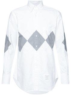 рубашка с ромбовидным принтом Thom Browne
